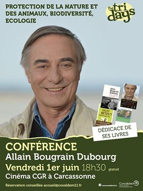Allain Bougrain Dubourg en visite dans l'Aude
